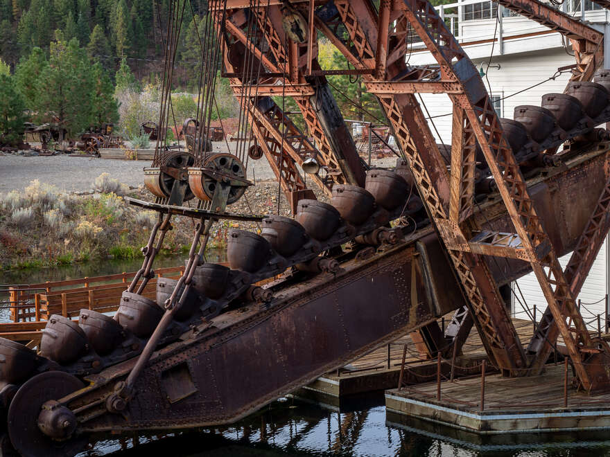 The Sumpter Valley Dredge's ore conveyer buckets.