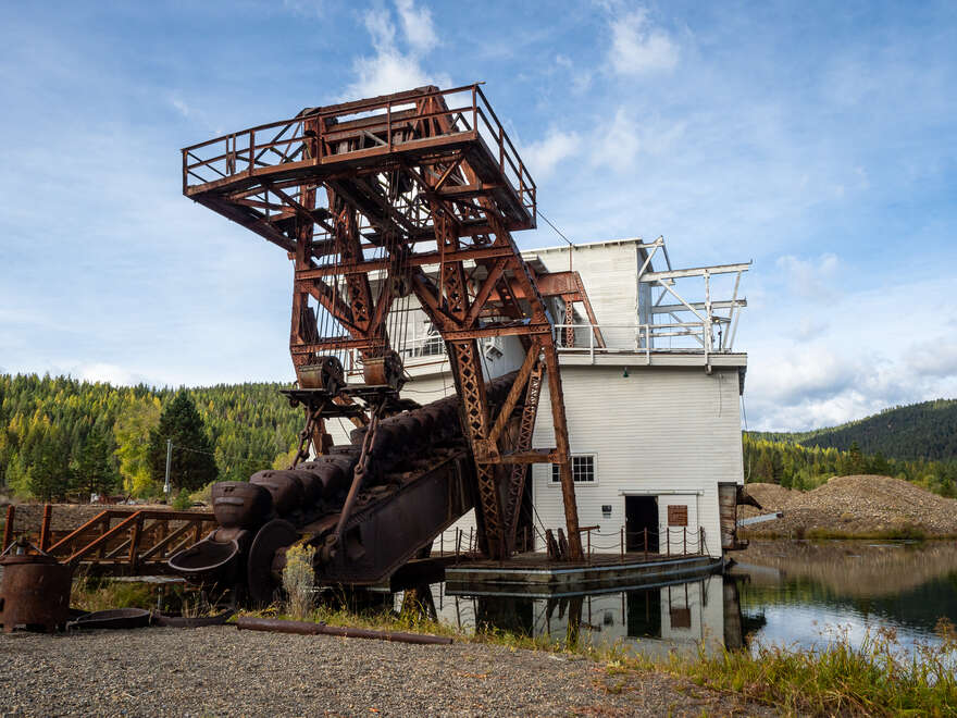 A view from the front of the Sumpter Valley Dredge.