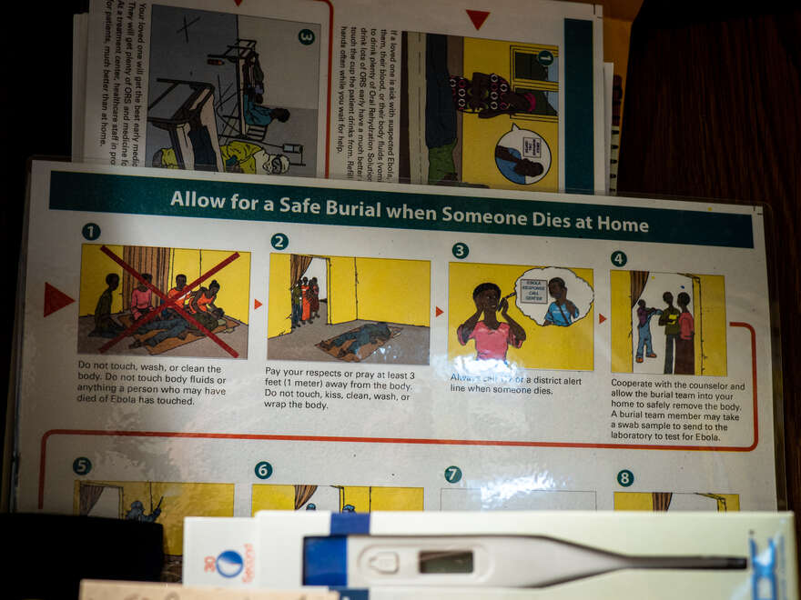 Burial instruction cards from an outbreak of Ebola in Africa.